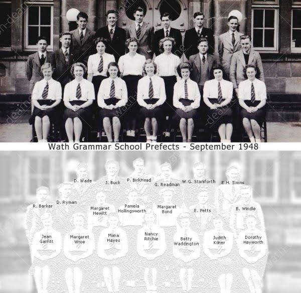 Wath Grammar School Prefects 1948